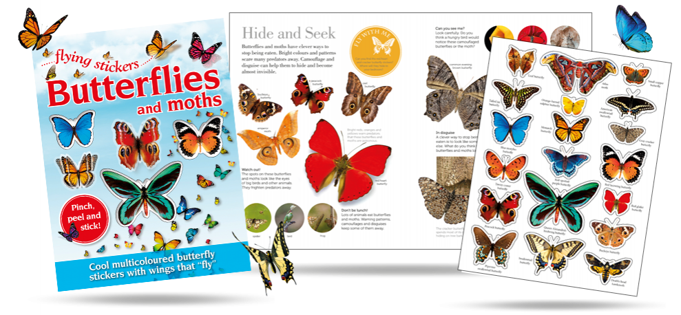 Butterfly Flying Stickers
