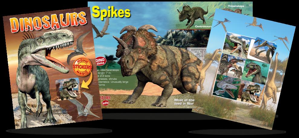 Dinosaur Lenticular stickers